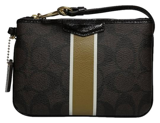 Preload https://img-static.tradesy.com/item/7655905/coach-signature-pvc-met-stripe-small-f52147-browngold-leather-wristlet-0-0-540-540.jpg