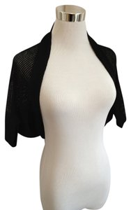 DKNY Shrug Knit Open Weave Sweater
