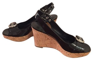 Franco Sarto Black Wedges
