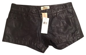 Ralph Lauren Mini/Short Shorts Black Lamb Skin