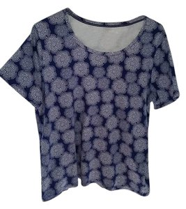 White Stag Top Blue/white