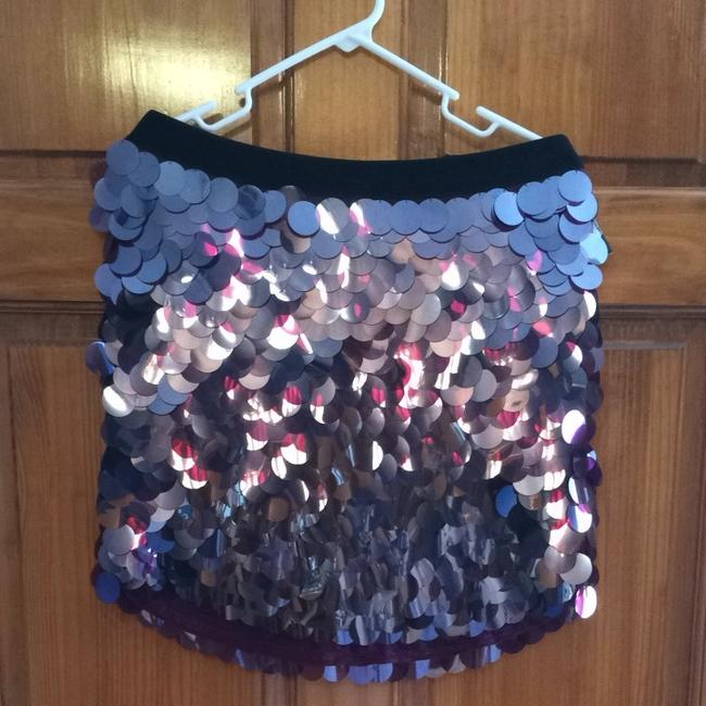 DKNY Mini Sequin Party Night Out Date Night Skirt Burgundy, plum red