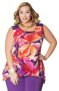 Ashley Stewart Top Multi Color