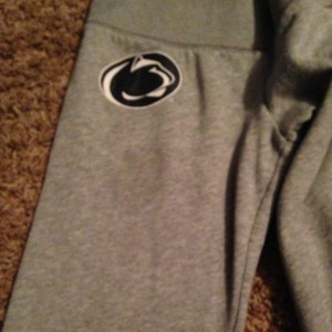 PINK Victoria's Secret Penn State Psu Athletic Pants Grey With Rhinestones