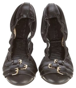 Burberry Black Leather Flats