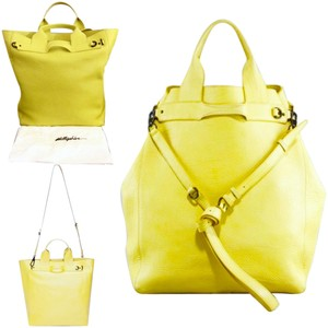 3.1 Phillip Lim Pebble Leather Tote in Limon / Lemon Yellow