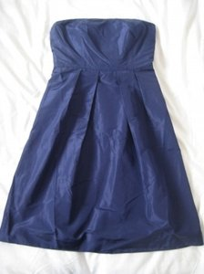 J.Crew Blue Taffeta Lorelei - Caspian Modern Bridesmaid/Mob Dress Size 4 (S)