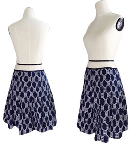 Jones New York Skirt Navy Blue / White