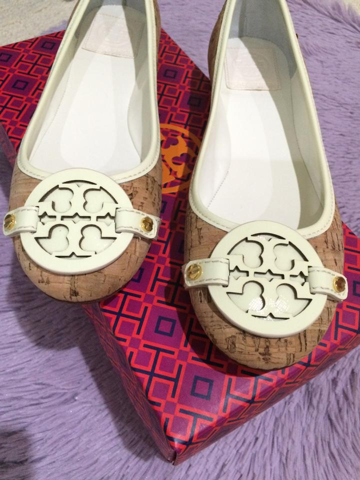 1fdcad393f0 Tory Burch Natural Ivory Aaden Ballet Cork Patent Saffiano Trim   New Flats  Size US 8 - Tradesy