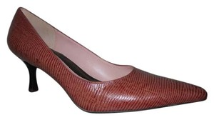 Cole Haan Leather Lizard burgundy & mauve/pink Pumps