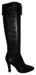 Aerosoles Tall Leather Studded Sexy black Boots