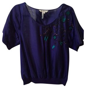 BCBGeneration Bcbg Blue Detail Black Top Purple