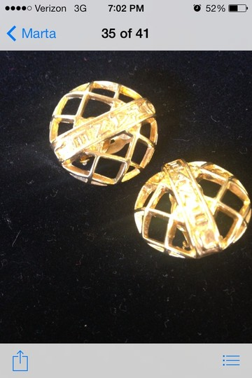 Chanel Chanel Gold Cilp-Ons