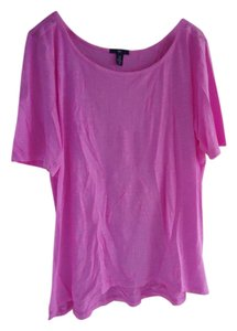 Gap Boatneck T Shirt Neon pink