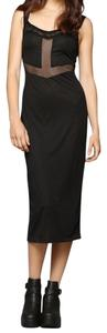 black Maxi Dress by Urban Outfitters Size Medium Slip
