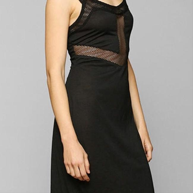 Maxi Dress by Urban Outfitters Size Medium Black Mesh Slip