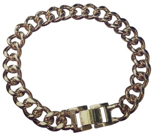 Gold buckle chain bracelet