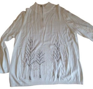 Coldwater Creek Beaded Design Soft Sweater