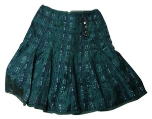 Tory Burch Pleated Skirt green