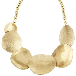 Chloe + Isabel Overlapping Metal Disc Collar Necklace