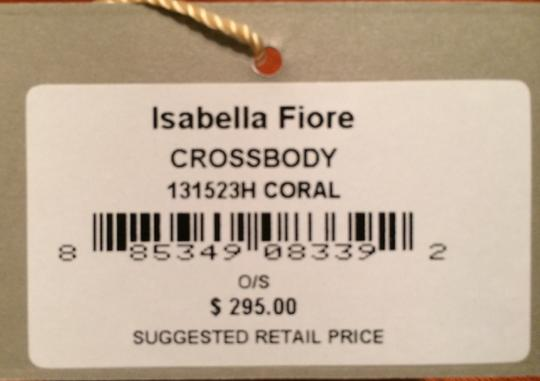 Isabella Fiore Heritage Coral Leather Shoulder New Cross Body Bag