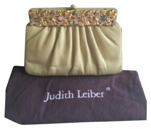 Beautiful Judith Leiber clutch. Never worn. Perfect for daytime or evening. Creamy Mint Clutch