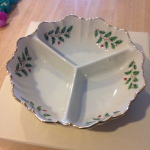 Lenox Holiday Condiment Dish