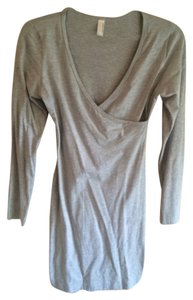 American Apparel short dress Heather gray Bodycon on Tradesy