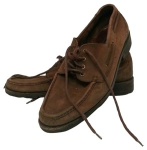 Coach Leather Loafers Casual Chic Confortable Brown Flats