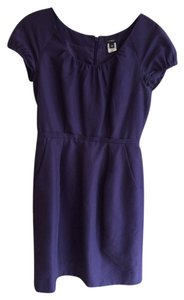 J.Crew Scoop Neck Cap Sleeve Navy Dress