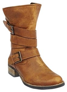 Steve Madden Cognac Leather Boots