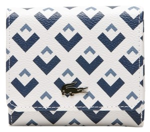 Lacoste NELLY WALLET IN TRICOLOR EMBOSSED PETIT PIQUE LEATHER