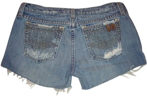 JOE'S Jeans Joes Distressed Raw Hem Frayed Hem Cut Offs Denim Shorts-Distressed