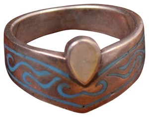 Other Sterling Silver Size 6.5 Turquoise Inlay Moonstone Native American Ring