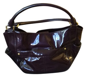J.Crew Patent Leather Tote in Aubergine Wine