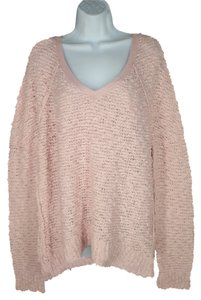 Free People Cotton Boucle Soft Relaxed Sweater