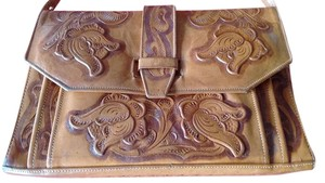 Hand Tooled Leather Stamped Ethel Vintage Shoulder Bag