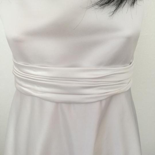 White Poly Satin with Lining and Netting Or Teen's Party Special Occasion * Formal Bridesmaid/Mob Dress Size 2 (XS) Image 2
