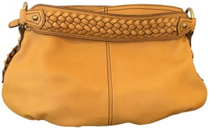 Banana Republic Leather Braided Brass Detail Shoulder Bag