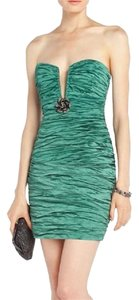 BCBGMAXAZRIA Tristina Evergreen Green Homecoming Prom Dress