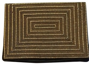 Deepa Gurnani Black, Gold Clutch
