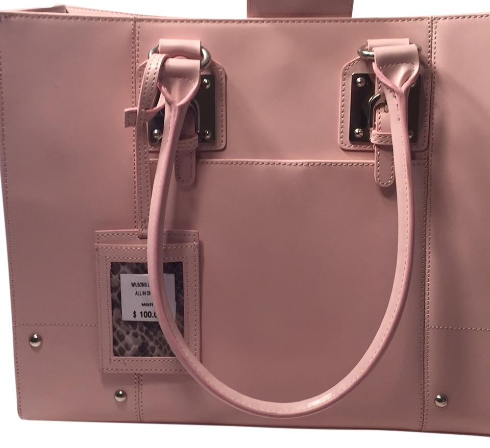 Wilsons Leather Tote In Blush Pink