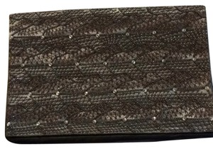 Deepa Gurnani Black And Silver Clutch