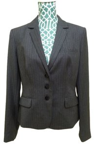 Calvin Klein Striped Suit Grey Blazer