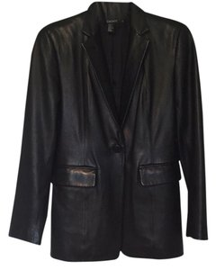 DKNY Black Black leather Leather Jacket