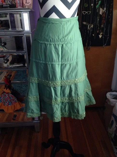Dress Barn Skirt Green