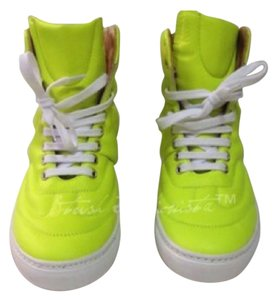 Maison Margiela Margiella Mm6 Maisonmartinmargiella Lime Leather Sneakers Neon Green Athletic