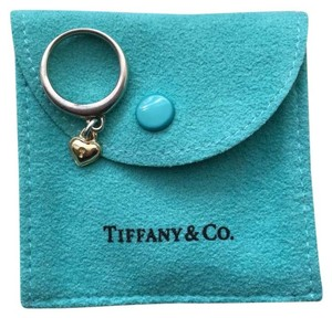 Tiffany & Co. Tiffany & Co. Sterling Silver & 18K Gold Heart Padlock Dangle Ring Size 6