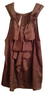 Adiva 100% Polyester Top Brown