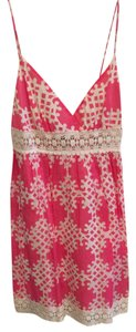 MILLY Cotton Lace Trim Dress